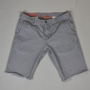 (Dockers) Grey Cut Off Chino Shorts